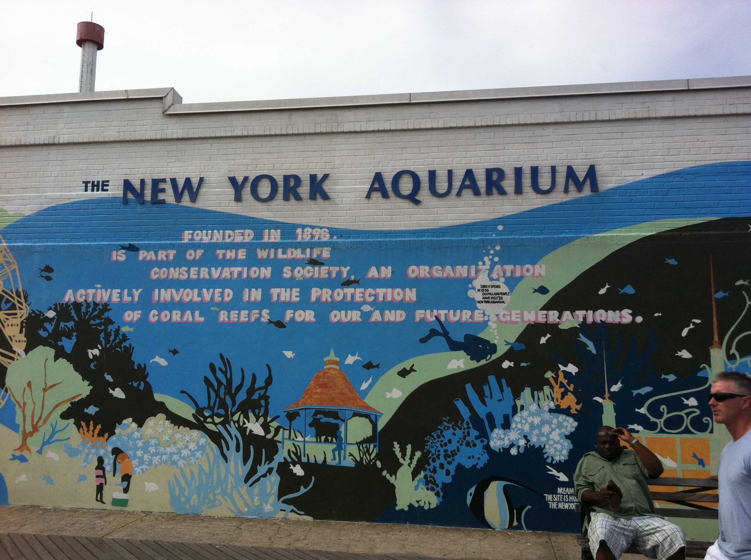 Wordless wednesday coney island and the new york aquarium Aquarium in coney island