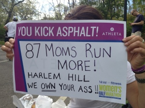 Cheering on my awesome PS 87 moms as they kicked it during the MORE 1/2!