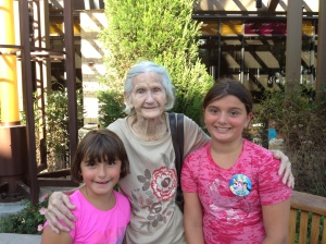 Family trip to California- meeting Great Grandma =)