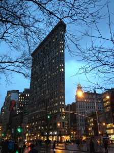 Side view of the Flatiron Building