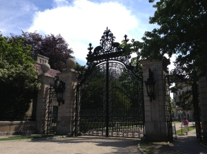 "The gate to the Vanderbilt ""Breakers"" Mansion"