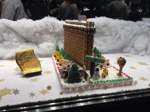 A gingerbread Flatiron building at Citarella on the UWS.